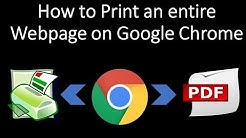 How to Print or Save an entire Webpage on Google Chrome