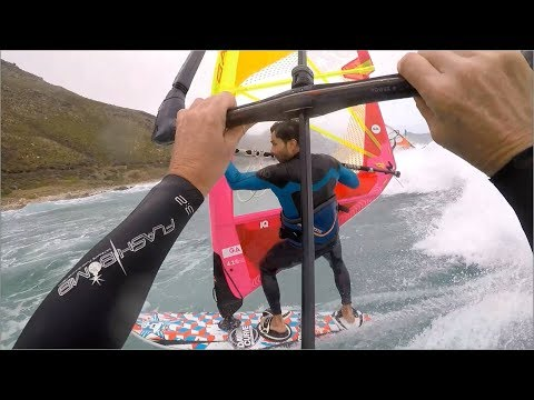 Kitesurf in offshore wind in Witsand Cape Town South Afrika