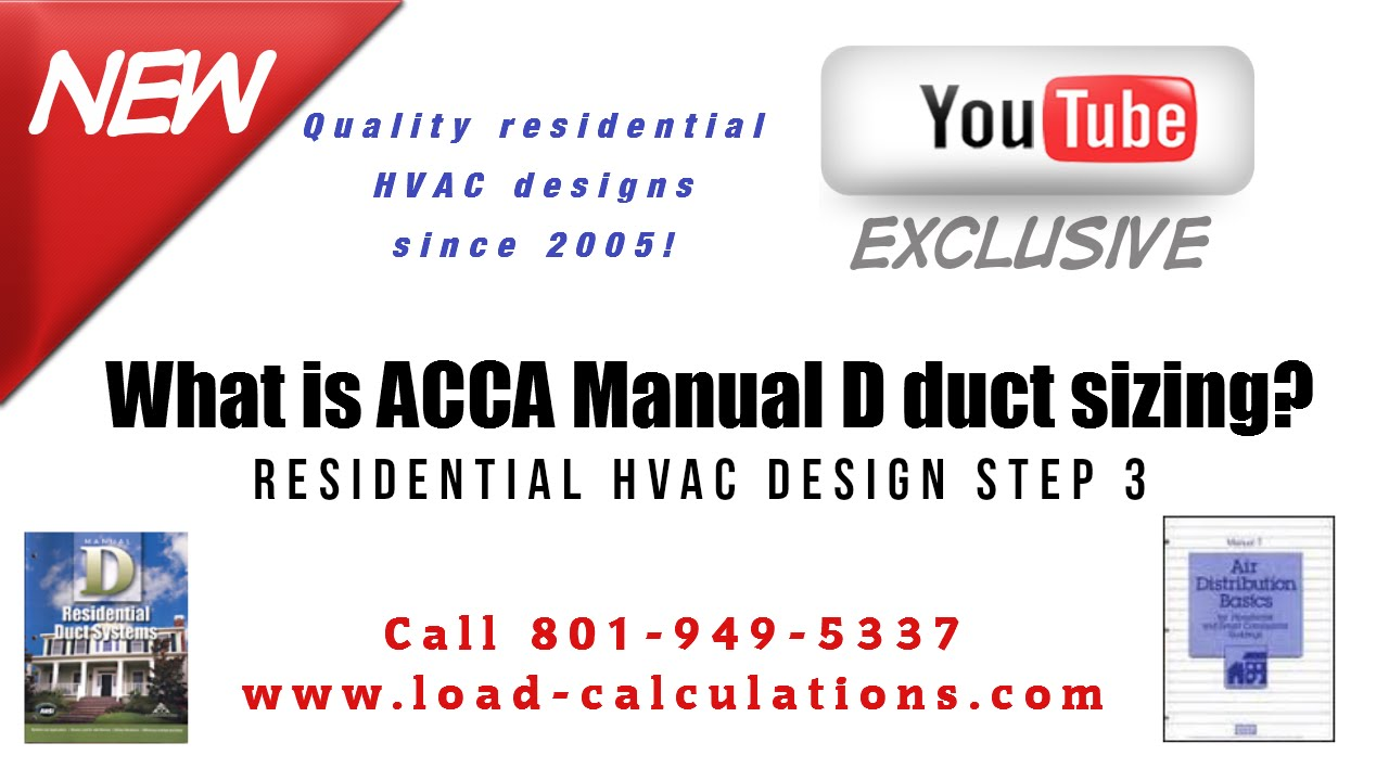 what is manual d understanding acca manual d duct design 3rd step rh youtube com acca manual design acca manual design