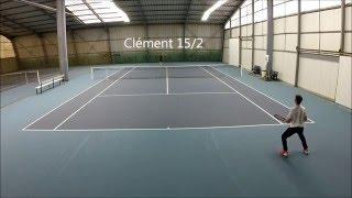 Match tennis Jordan (15/3)  Clément (15/2) 17 09 2015