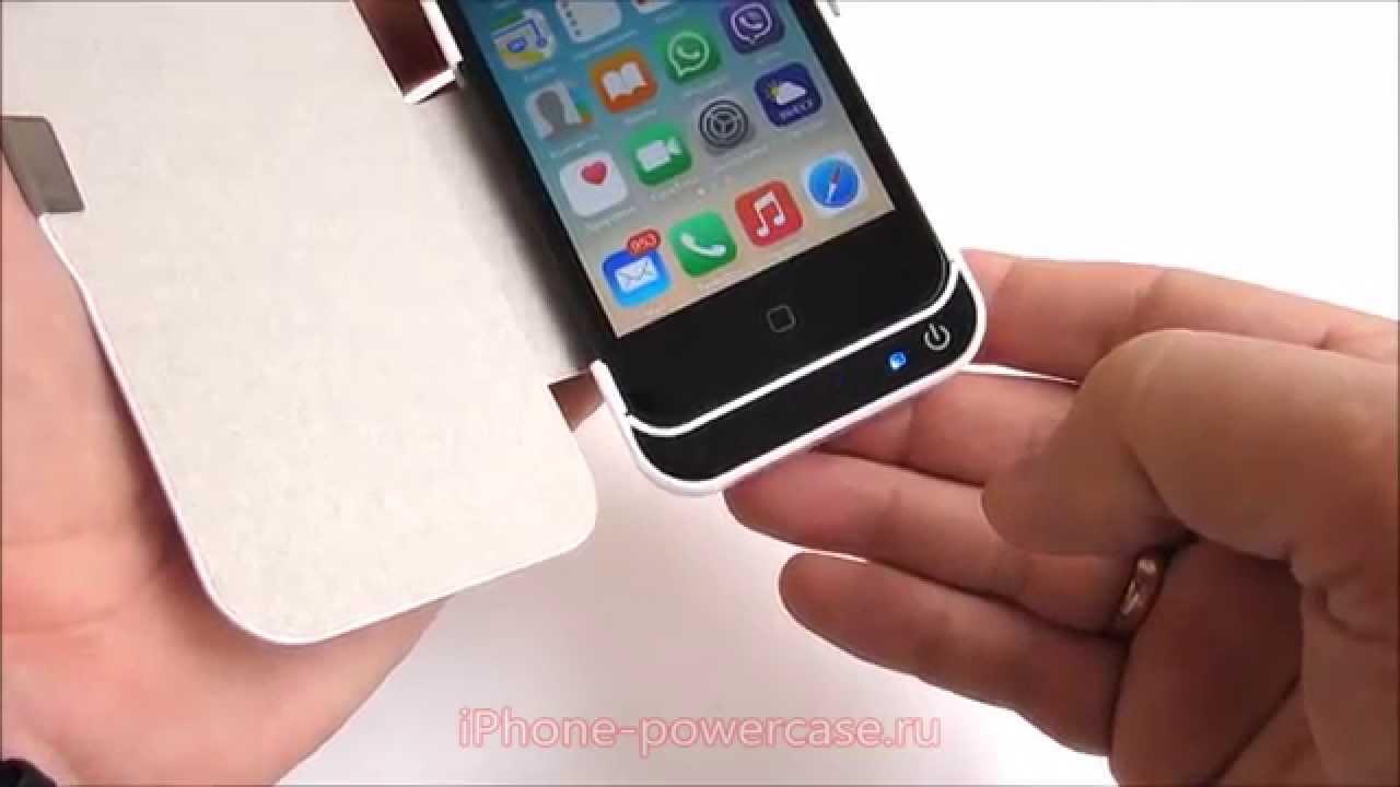 Чехолзарядка для Айфон 55S5C flipкнижка на 4200 mAh