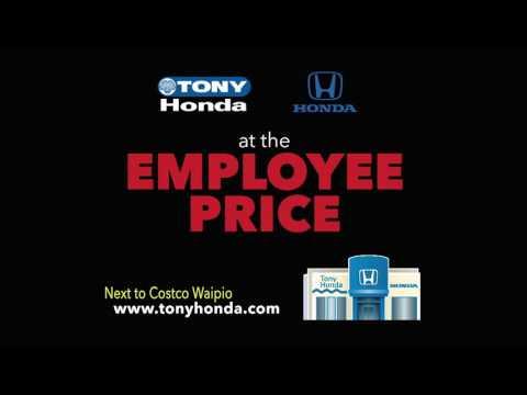 Tony Honda Employee Price Sale 30