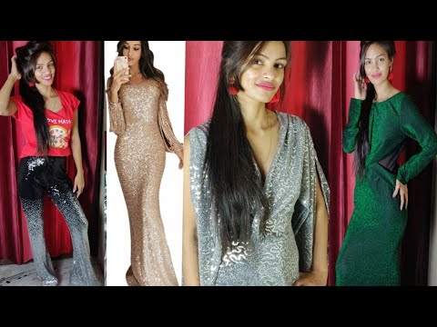 Huge Affordable Sequences Maxy Dresses Try On Haul Specially For Wedding & Party/Dear Lover Haul