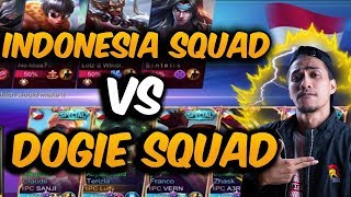 DOGIE SQUAD VS INDONESIA SQUAD - 1000 DIAMONDS GIVEAWAY - MOBILE LEGENDS - GAMEPLAY - RANK