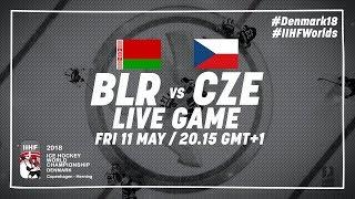 Belarus - Czech Republic   Full Game   2018 IIHF Ice Hockey World Championship