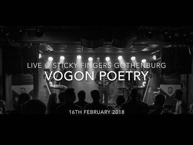 Vogon Poetry Live @ Sticky Fingers Gothenburg 16th february 2018