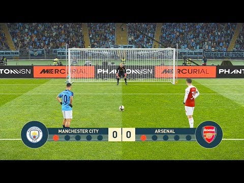PES 2019 | MANCHESTER CITY VS ARSENAL | Penalty Shootout | Gameplay PC
