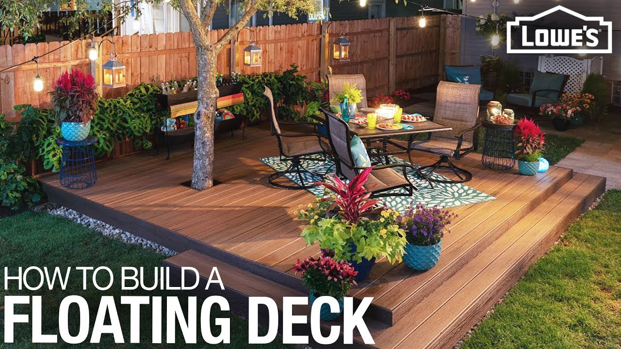 How to Build a Floating Deck - YouTube on Floating Patio Ideas id=65339