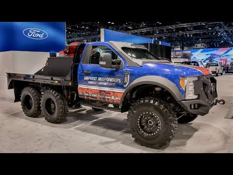6x6 ford F-550 Superduty Truck at Chicago Auto Show [4K]