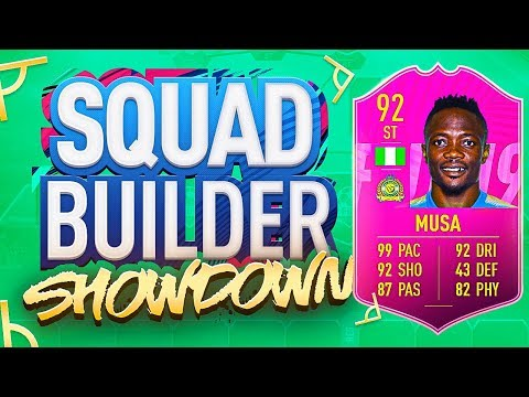 FIFA 19 SQUAD BUILDER SHOWDOWN!!! FUTTIES 99 PACE MUSA!!!