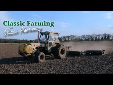David Brown 880 Selectamatic Working Hard With Plenty Of Smoke... From The Classic Farming DVDs.