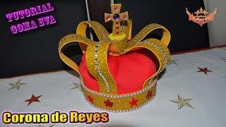 ♥ Tutorial: Corona de Reyes de Goma Eva (Foamy) ♥