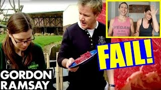 GORDON RAMSAY COOKS STEAK FOR VEGETARIAN | FUNNY!!