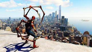 Spider-Man PS4 - Iron Spider Suit Combat & Free Roam Gameplay