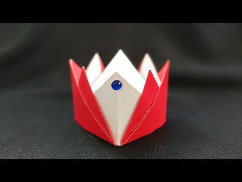 Оригинальная корона из бумаги оригами. Paper crown