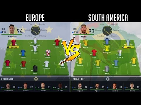 EUROPE'S BEST VS SOUTH AMERICA'S BEST IN THE SAME LEAGUE? 🤔 FIFA 17 EXPERIMENT