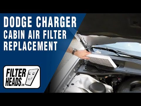 how to replace cabin air filter dodge charger