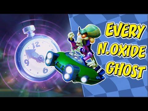 Crash Team Racing Nitro Fueled - Beating Every Nitrous Oxide Ghost (Excluding Retro Stadium)