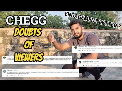 Chegg- Earn Money Online- Doubts of viewers- What is Engagement letter - Subject test - CJTalk