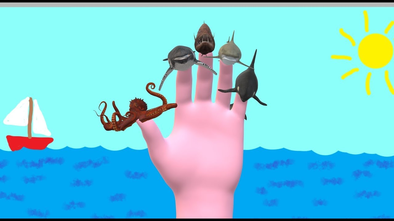 Finger Family Whale Shark And More Ocean Animals Create Your Own Daddy Nursery Rhymes