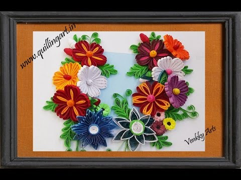 How To Make Beautiful New Design Quilling Flowers Wall Decoration