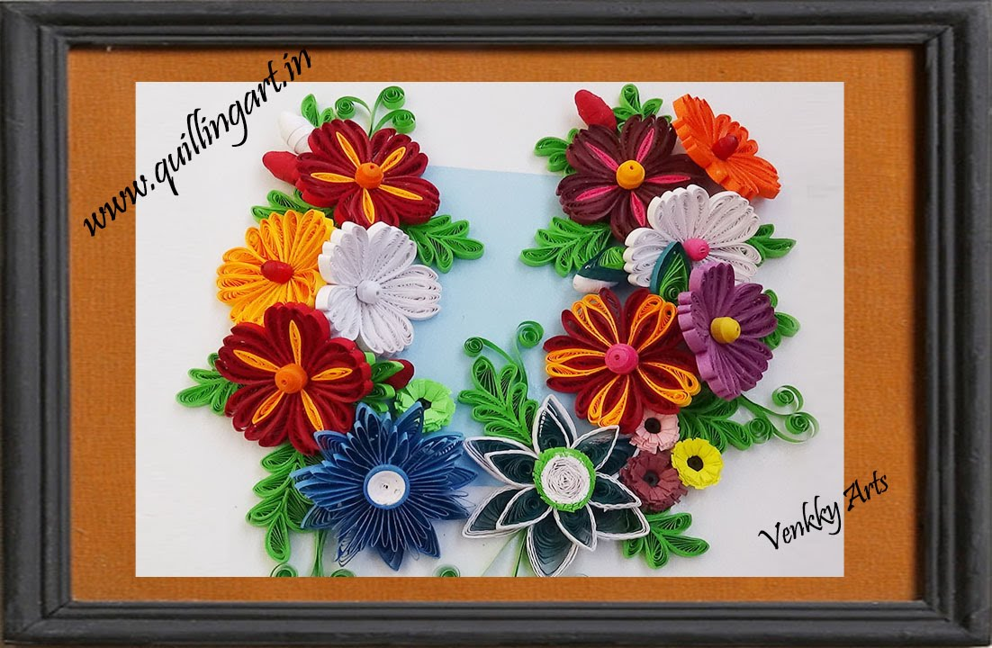 Flower Framed Mirror Paper And Stitch DIY Fresh Frame Two Border Decoration Bounding Rectangle Creative