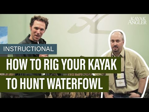How To Rig Your Kayak To Hunt Waterfowl | Instructional