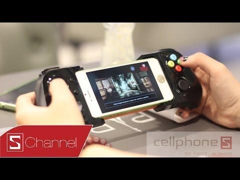 Schannel mở hộp tay cầm moga ace power dành cho iphone 5/5s cellphones