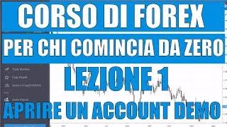 Come Aprire un Account di Trading Demo - Corso di Forex per Principianti - Lezione 1