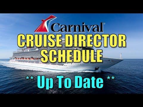 Carnival Cruise Director Schedule 2020.Carnival Cruise Director S Schedule Info Who Will Yours Be