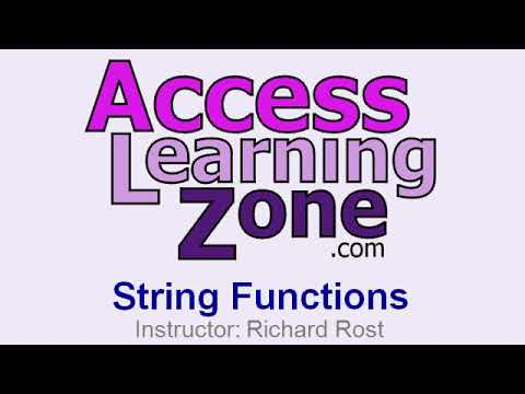 Microsoft Access Tutorial String Functions Left Right Instr Trim