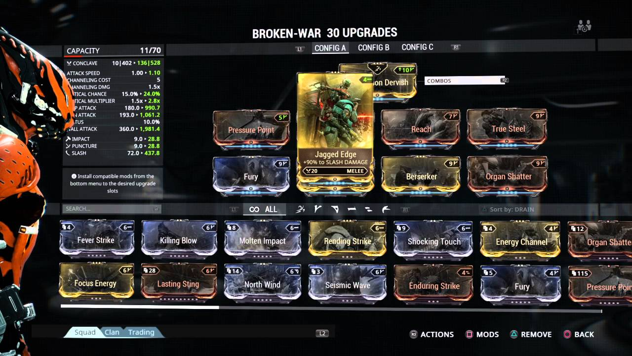 Warframe Broken War Build Youtube