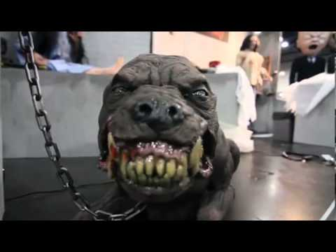 Du2618 vicious hound dog animated youtube for Electric motors for halloween props