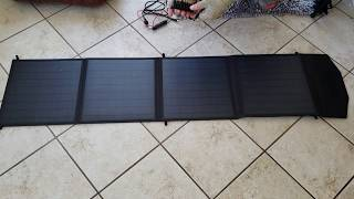 Picowe 60 Watt Portable Solar Panel. 1st use quick review