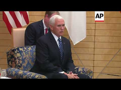 US VP Pence meets Japanese PM Abe
