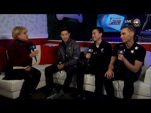 Nathan Chen, Adam Rippon & Vincent Zhou Interview | LIVE 1-7-18
