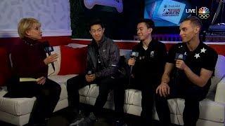 Nathan Chen, Adam Rippon & Vincent Zhou Interview | LIVE 1-7-18