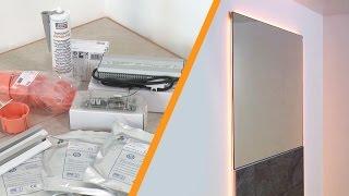 LED aydınlatmalı duvar aynası montajı: Schlüter®-LIPROTEC-WS
