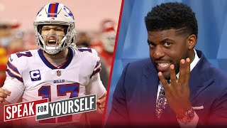Bills' Josh Allen 'laid an egg' against Chiefs in AFC Championship — Acho | NFL | SPEAK FOR YOURSELF