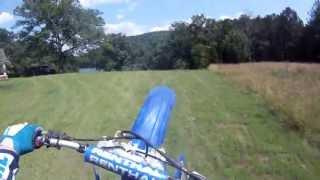 2001 YZ 125 Go Pro Helmet Mount 2-Smoking short private track lap