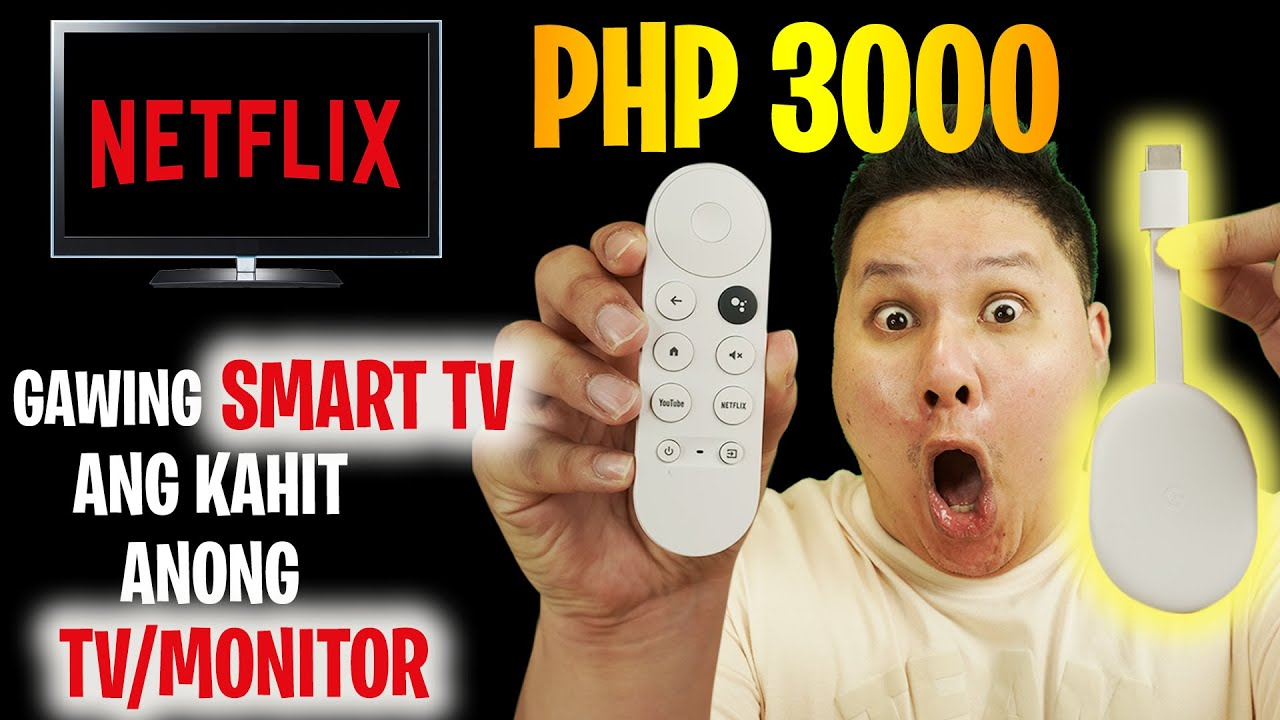 CHROMECAST WITH GOOGLE TV - GAWING SMART TV ANG KAHIT ANONG TV/MONITOR