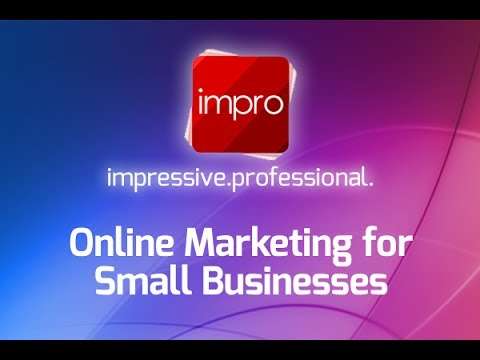 Online marketing for small businesses with Impro UK