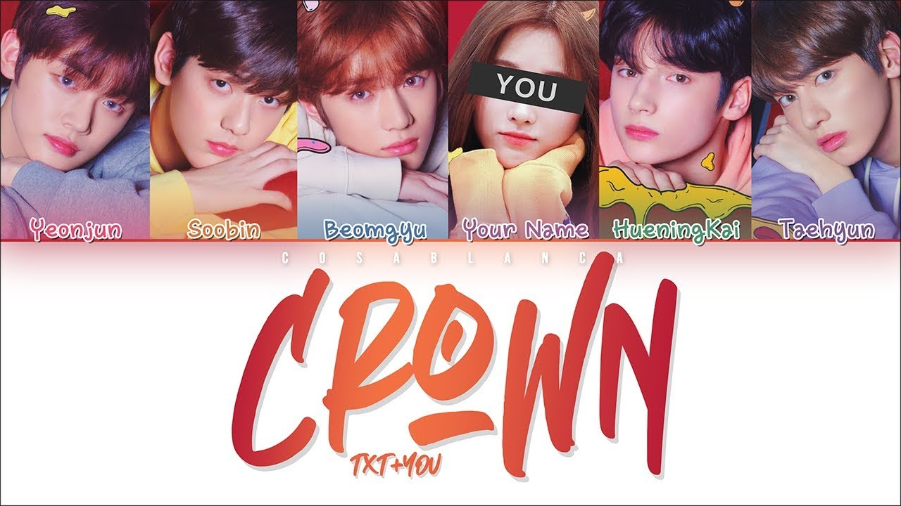 txt  u300ccrown u300d  6 members ver    color coded lyrics han