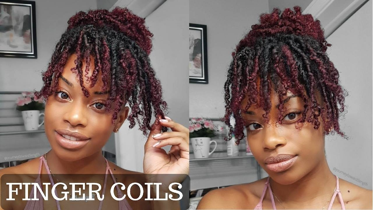 How To Finger Coils On Kinky Curly Hair Coil Out Natural