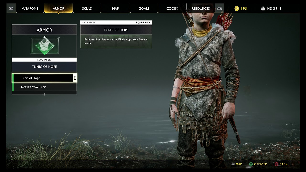 God Of War The Marked Trees Death S Vow Tunic Atreus Armor Appearance Information 2018