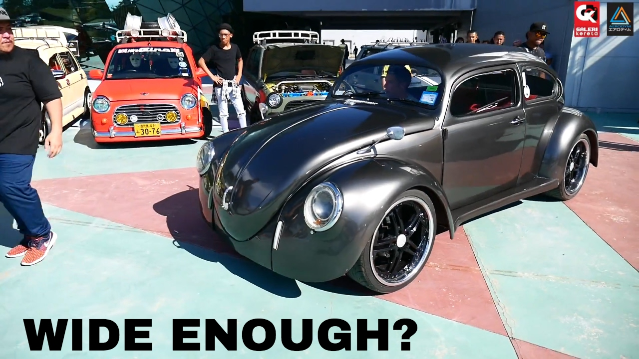 VW Beetle Stance Modified - Borneo Kustom Show 2017 - YouTube