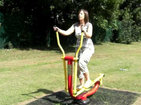 Outdoor Fitness Equipment Cross Trainer / Rider
