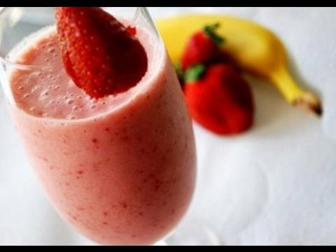 mes recettes minceur smoothie banane fraise 100 fruits youtube. Black Bedroom Furniture Sets. Home Design Ideas