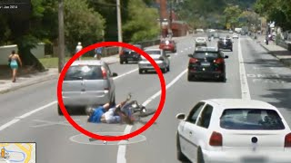Bike Accident Caught on Google Street View - Google Maps Free HD Video