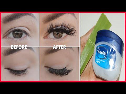 Get Super Long and Thick EYELASHES with DIY MASCARA | Homemade Natural Mascara | Vaseline Mascara